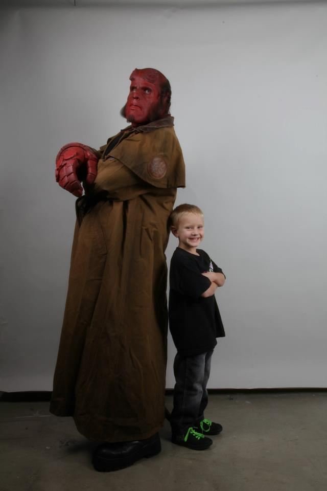 "Special Effects Studio & Ron Perlman ""Hellboy"" Team Up To Grant Wishes of Two Young Boys"