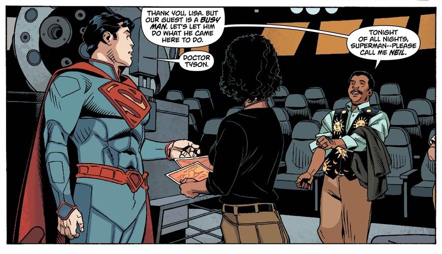 Astronomer Neil deGrasse Tyson Helps Superman See Planet Krypton
