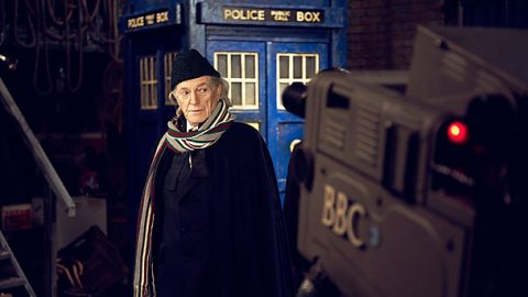 DAVID BRADLEY as William Hartnell who played the original Doctor Who.