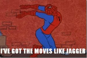 '60s Spidey moves like Jagger