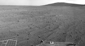 Three month tour, ten years later and still working. The view from NASA's Mars rover Opportunity in August 2014. (Photo Credit: NASA/JPL-Caltech)
