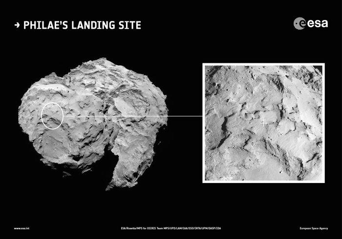 Rosetta Team Chooses Landing Spot On Comet 67P/Churyumov-Gerasimenko
