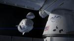 SpaceX Dragon 2 docking, artist's concept.
