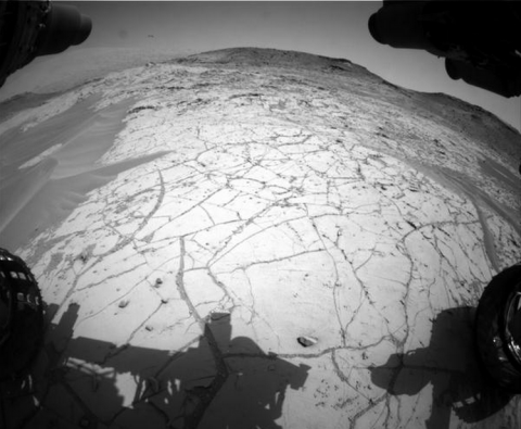 The latest view of Pahrump Hills from Curiosity (image credit: NASA/JPL)