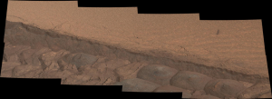 Using every tool at hand: Tire tracks on Mars help show a cross-section of the dust (Image Credit: NASA/JPL-Caltech/MSSS)