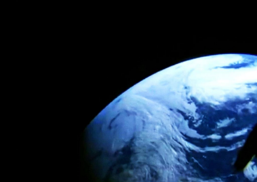 View from Orion's unpiloted flight test (Image Credit: NASA Television)