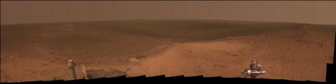 The panarama from Cape Tribulation, from NASA's Mars Exploration Rover Opportunity (Image Credit: NASA/JPL-Caltech/Cornell Univ./Arizona State Univ.)