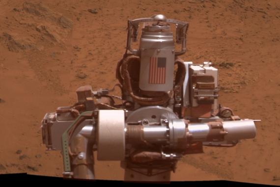 Detail from Opportunity's panorama photo (Image Credit: NASA/JPL-Caltech/Cornell Univ./Arizona State Univ.)