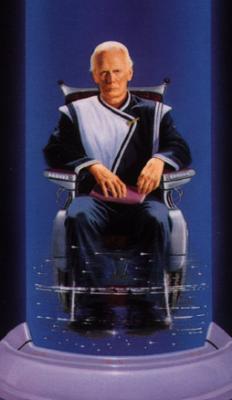 Book cover art depicting Hari Seldon, mathematician hero of the Foundation.