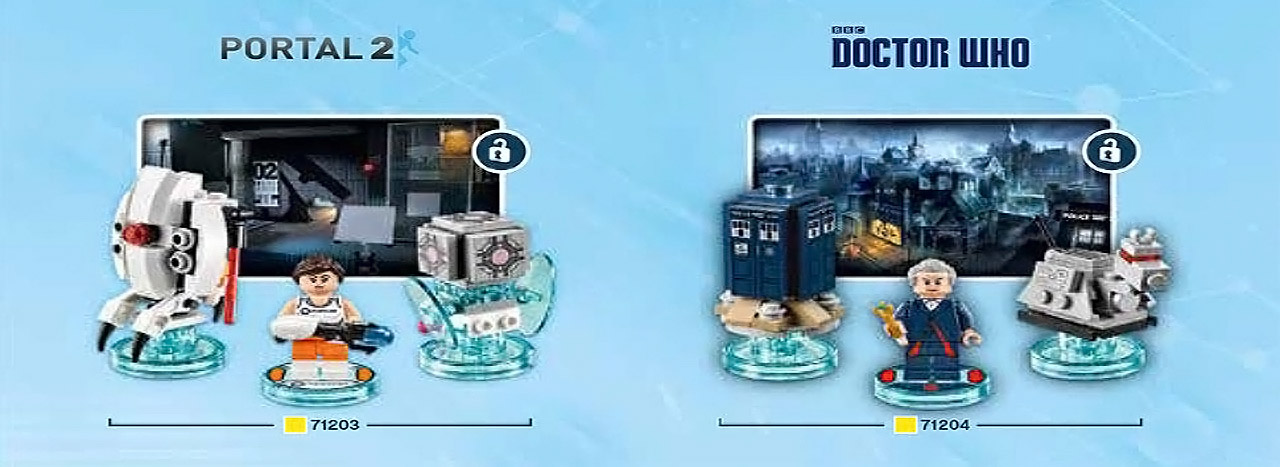 LEGO Dimensions to Include 'Doctor Who', 'Portal 2' Packs