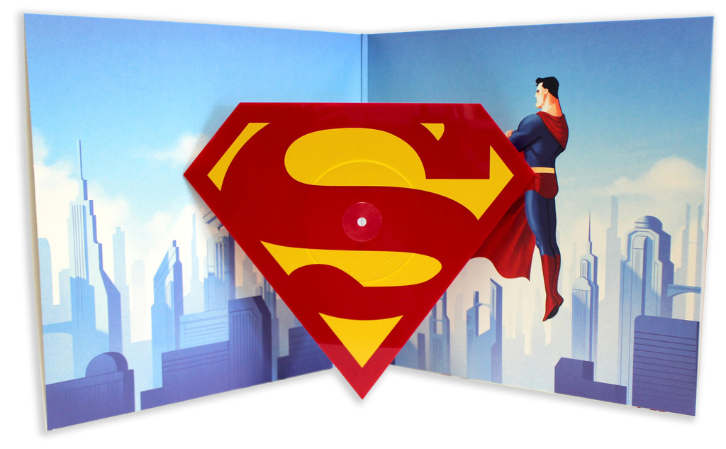 Mondo to Release 'Superman: The Animated Series' Theme on Shield-Shaped Vinyl