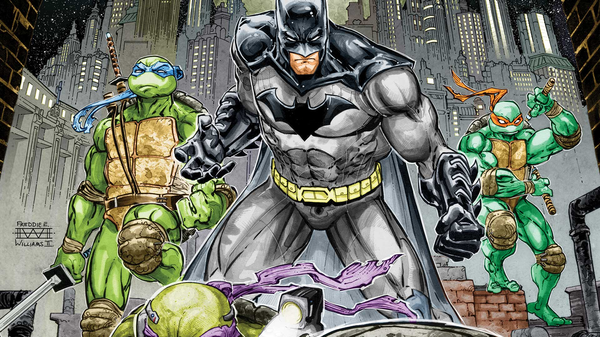 Four-Color Bullet: Secret Wars #9, Batman/Teenage Mutant Ninja Turtles #2
